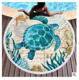 2019 mantas frescas Mandala Microfibra Tapicería Yoga Toallas de playa Colchón de playa Hamburguesa Helado Mantel de cocina Toalla de playa Manta redonda Picnic Regalos mantas frescas baratos
