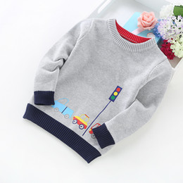 2021 autos pullover Neue Ankunft Junge Pullover Kinder Kleidung Autos Muster Gestrickte Pullover Baby Boy Pullover Pullover Strickwaren 2-5t Kinder