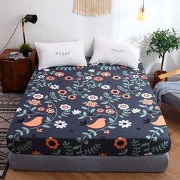 queen-size-matratze Rabatt New Bett Matratzenbezug Bettwäsche mit elastischer Bettdecke Tagesdecke für Baumwolle rosa Bettzeug grau Queen-Size-Schlafzimmer