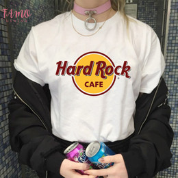 2020 t-shirt di kawaii Stampa T Shirt Estate Hard Rock Cafe Lettera Womens Grunge estetica manica corta casuale Kawaii Harajuku supera i T t-shirt di kawaii economici