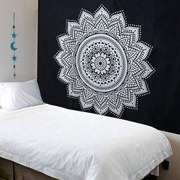 Хиппи искусство онлайн-Mandala Bohemian Tapestry Art Printing Wall Hanging Cloth  Traditional Handicrafts Wall Decor Hippie Tapestries