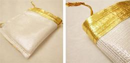 2019 bolsos del favor de borgoña Paquete de la joyería de la bolsa del regalo de boda del bolso del Organza del color de plata del oro 5x7cm / 7x9cm / 9x12cm / alta calidad K3456