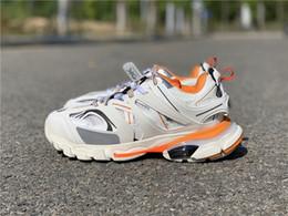 Laço de sapato laranja levou on-line-Sapatos New Paris Tess Gomma 3.0 laranja LED branco de luxo designer Triplo basquete de alta qualidade Casual das mulheres dos homens des chaussures caixa de zapatos