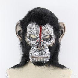 2020 mascarillas de gorila 2019 Zombie Máscara de Halloween Navidad orangután Ambiente horror Mono Animal Mask Máscara del gorila Shipping # 190g mascarillas de gorila baratos