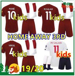 Argentina Liverpool kids 2019 2020 kit de fútbol salah mane FIRMINO VIRGIL camiseta de fútbol para niños soccer kit 19 20 SHAQIRI Camisetas de fútbol Sets De Futbol supplier football kit sets Suministro