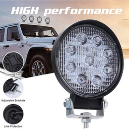 quadratische led-scheinwerfer Rabatt 90W Auto LKW Offroad LED Scheinwerfer Spot Beam Round / Square Driving Nebelscheinwerfer