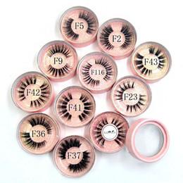 Visón Pestañas 3D Pestañas Naturales Largas Invisibles Banda delgada 10 Estilos Pestañas individuales Curl Extensiones suaves Círculo Caja de rosas desde fabricantes