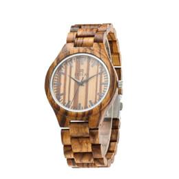 Canada Montre en bois de zèbre montre en cuir véritable montre en bois source de style chaud Offre