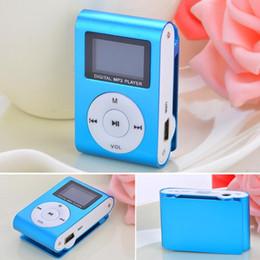 Moda Nuevo azul Mini Reproductor de MP3 Clip USB Radio FM Soporte de pantalla LCD para Micro SD de 32 GB desde fabricantes