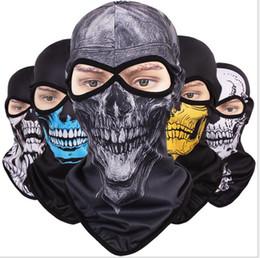 2019 full face skull mask Quick-secagem Respirável Crânio Tampa Máscara Facial Completa CS Anti-terror fantasma Máscara Protector Solar Exército Tático Máscara Facial Completa 12 cores LJJZ21 desconto full face skull mask