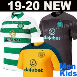 Futbol blanco verde online-Nuevas camisetas de fútbol celta Celtic 2019 2020 19 20 local TIERNEY MCGREGOR BENKOVIC WEAH BURKE EDOUARD CHRISTIE GRIFFITHS camisetas de fútbol negras