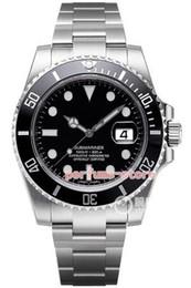 Модернизированная версия роскошный зеленый / черный циферблат керамическая дата 116610LN 40 мм CAL.2813 автоматический Сапфир мужские часы Водонепроницаемый Полный комплект в коробке PJ3 от