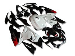 fairing rsv Promo Codes - New ABS Body For Aprilia RS4 RSV125 RS125 06-11 RS125R RS-125 RSV 125 RS 125 2006 2007 2008 2009 2010 2011 Custom Fairing set white black