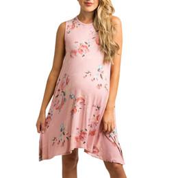 Maternidade fotografia flores on-line-Fotografia de maternidade adereços gravidez vestido sem mangas maternidade fotografia vestido plus size verão mulheres flor # G3