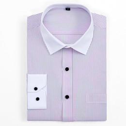 a5830f634cd16a7 2019 white elegant dress for men Плюс размер 6XL 5XL 4XL XXXL белый воротник  полосатый бизнес