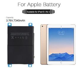 Li batteria ad aria online-YILIZOMANA Per iPad Air 2 batteria interna 7340mAh Li-ion di ricambio originale per ipad 6 Air 2 A1566 A1567 con strumenti