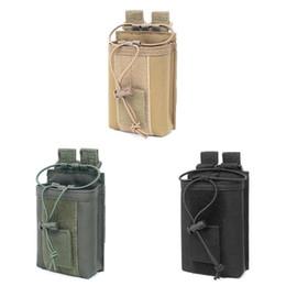 Casi di walkie talkie online-Potabile borsa da cintura in nylon 1000D borsa da caccia borsa da passeggio per walkie-talkie borsa da cintura per arrampicata all'aperto # 562909