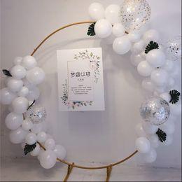 2019 белые колонны Новый свадебный большой размер железное кольцо арка рамка фон декоративный цветок дверная рама свадебные украшения реквизит