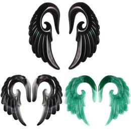 Harz engel flügel online-Beste Preise Cross Border Amazonas Wunsch Zweite Ton Expansion Engel Flügel Auricle Harz Ohr Extender Punktion Ornamente