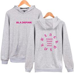 sudaderas rosa Rebajas Moda coreana PINK NEGRO Sudaderas con capucha Sudaderas Mujer Hombre Ropa Blackpink Álbum Pullover diseñador Sudadera con capucha