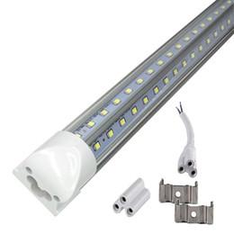 2019 led-röhrenlager V-Form integrierte Röhrenleuchten 8ft LED T8 Röhrenleuchten V-förmige 8-Fuß-LED-Leuchtstoffröhrenleuchte AC 85-265V + Lager in den USA günstig led-röhrenlager