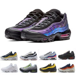 Наружные лазеры онлайн-Nike Air max 95 shoes  Laser Fuchsia chaussures OG Mens Womens Running Shoes Classic Black Red White men Trainer Surface Sports outdoor Sneakers 36-46