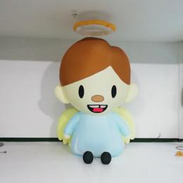 Canada Dessin animé géant de fille de décoration gonflable réaliste, personnage de dessin animé gonflable de mascotte Offre