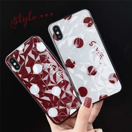 Caso da parte traseira da onda do iphone on-line-Adorável 3d diamante onda ponto amor protetor do coração tampa traseira do telefone case para iphone 6 6s 7 8x xr xs max