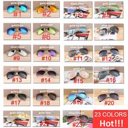 Lentes de noche online-10pcs experimental de la calidad del espejo de las gafas de sol mujeres / hombres diseñador de la marca del óvalo Noche Día al aire libre Gafas de sol de las mujeres de la vendimia de conducción Gafas de Sol