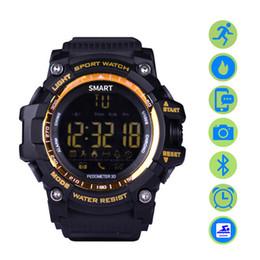 2019 bluetooth di bassa potenza EX16 Smart Sports Watch Bluetooth 4.0 5ATM compatibile con IOS Android Sleep Monitor Calorie Counter Low Power Watc bluetooth di bassa potenza economici