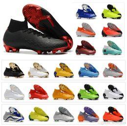 new style 42cc1 5dcd9 Heiße Mens Mercurial Superfly VI 360 Elite FG Paris 6 XII 12 CR7 Ronaldo  Neymar NJR Fußballschuhe 20 Fußballschuhe Stollen Größe 39-45