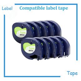 formatador hp Desconto 10Pack 91200 DYMO LetrasTag Paper Label Tape impressão em preto sobre papel branco 12mm x 4M para o marcador LT 1/2 pol. X 13 pés