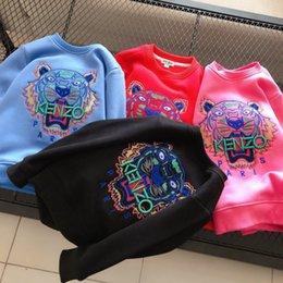hoodies azuis do golfinho Desconto Crianças Designer de Moda capuz 2020 Marca Tiger Bordado Tops para meninos das meninas Luxo Tendência Crianças Hoodies