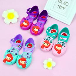 Corea nuevas sandalias online-Melissa jelly shoes mermaid versión coreana de los preciosos zapatos de princesa Sandalias de niña New Summer DHL