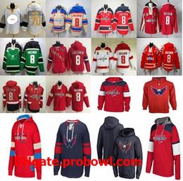 2019 hauptstadt hoodie Mens Washington Capitals Hoodies 8 Alex Ovechkin 70  19 Beige Grün Rot Weiß 37cebd2d74ad