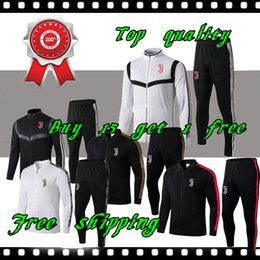Спортивная италия онлайн-Высочайшее качество 2019 2020 футбольный пиджак juventus Спортивный костюм Survetement juve 19 20 Италия Тренировочный пиджак спортивная одежда