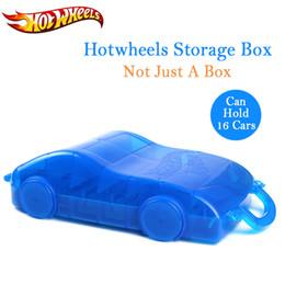 Trilhos de plástico para carros de brinquedo on-line-Hot Wheels Trilha Do Carro Brinquedo ABS Caixa De Armazenamento De Plástico Hotwheels Espaço Para Estacionamento Modelo Conveniente Carros Modelo Titular Para Presentes SH190910