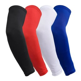 Pastiglie di gomito online-Traspirante Quick Dry Protezione UV Manicotti da braccio da basket Gomitiere da basket Parabraccia da palestra Maniche sportive Gomito maniche LJJZ75