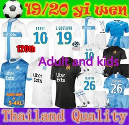 chemise balotelli Promotion Adultes et enfants 2019 2020 Olympique de Marseille BALOTELLI Maillot de football PAYET L.GUSTAVO 19 20 OM Maillots THAUVIN Maillot de Foot