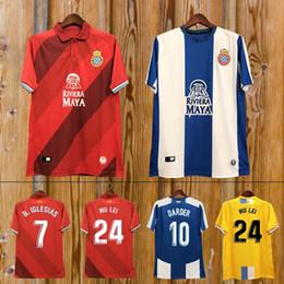 23404b74bdcb4 Nueva camiseta 2018 2019 La Liga RCD Espanyol 18 19 local Camiseta de fútbol  IGIESIAS Top Tailandia Calidad P.PIATTI BAPTISTAO Camiseta de fútbol  española ...