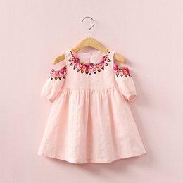 2019 meninas vestidos de algodão flora Meninas impresso saia roupas folk Crianças Vestido de flores de verão sem alças de algodão vestidos de princesa crianças roupas LLA06 meninas vestidos de algodão flora barato