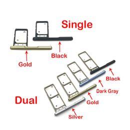 двойной держатель sim Скидка 5 шт. / Лот, слот для SIM-карт для Sony Xa2 ультра двойной / одной карты лоток запасных частей