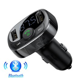 supporto bluetooth a2dp Sconti Car Kit Trasmettitore FM vivavoce Bluetooth modulatore FM senza fili dell'automobile Aux Radio Tranmiter lettore MP3 con USB Car Charger