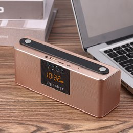 fern-portable alarm Rabatt Portable Despertador Sprachanruf Subwoofer Tischuhr elektronische drahtlose Bluetooth-Fernbedienung Wecker LED-Anzeige