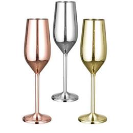 2019 boissons au vin rouge 304 En Acier Inoxydable Verres À Vin Rouge Gobelet Argent Rose Or Jus De Boisson Champagne Gobelet Partie Barware Maison Cuisine Potable Outil boissons au vin rouge pas cher