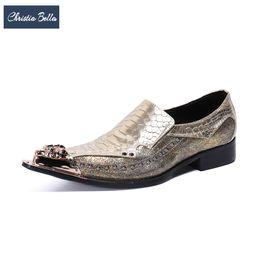 белла платья Скидка Christia Bella ночной клуб мужская мода большой размер натуральная кожа обувь вечернее платье скольжения на мужской обуви увеличить высоту новый