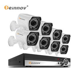 2019 caméra onvif 5mp Einnov 4Ch 8CH Système de caméra de vidéosurveillance CCTV 5MP 48V POE NVR Kit Onvif H.265 HD POE Caméra IP vision nocturne étanche 1 To HDD caméra onvif 5mp pas cher