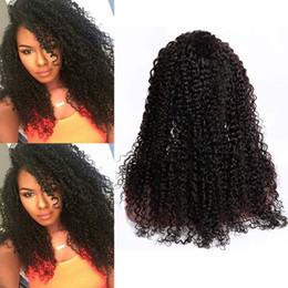 виргинский бразильский афро парик Скидка Бразильские девственные волосы 8-30 дюймов кудрявый вьющиеся кружева передние парики естественный цвет афро кудрявый вьющиеся человеческие волосы парик с волосами младенца