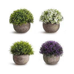 Plantas de topiaria de plástico artificial on-line-Mini plantas plásticas artificiais dos arbustos do topiary das plantas das mini plantas falsificadas para o banheiro, decorações da casa