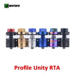 Wotofo Profile Unity RTA Atomizzatore Top Filling Drip Tip Adopts Resina abbastanza densa Carro armato da 3,5 ml / 5 ml con bobine in rete 100% autentico da